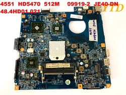 Oryginał dla ACER 4551 laptop płyta główna HD5470 512M 09919-2 JE40-DN 48.4HD01.021 testowany dobry darmowy wysyłka