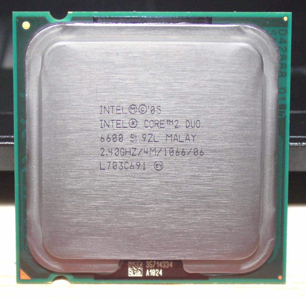 Intel Core E6600 Duo CPU Processor 2.4Ghz/ 4M /1066GHz Socket LGA 775 Working 100%