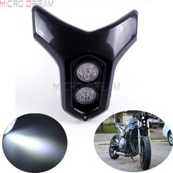 12v Streetfighter Dirt Bike podwójny MR16 4w * 2 LED reflektor uniwersalny dla Kawasaki Yamaha Suzuki ATV nagie lampy motocyklowe
