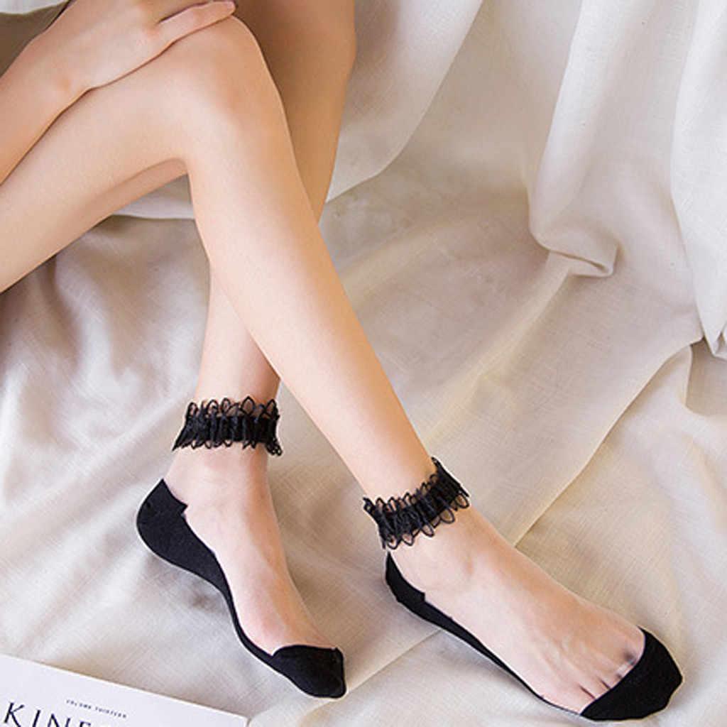 Женские носки, повседневные, дышащие, прозрачные, сетчатые, маленькие, женские, для отдыха, милые, сексуальные, короткие, женские носки, летние, шелковые, короткие носки #529