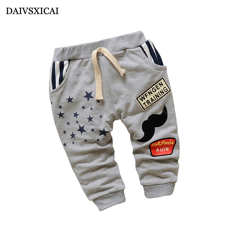 Daivsxicai Casual Cotton Pants Boy Fashion Cute Cartoon Baby Clothing Pants Brand All-Match Children Pants Boys 7-24 Month