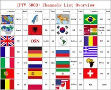 IPTV m3u Engima2 Arabic french Africa Europe Nordic Sweden Denmark Spain Russia Albanian Adult IPTV Subscription for android box(China)