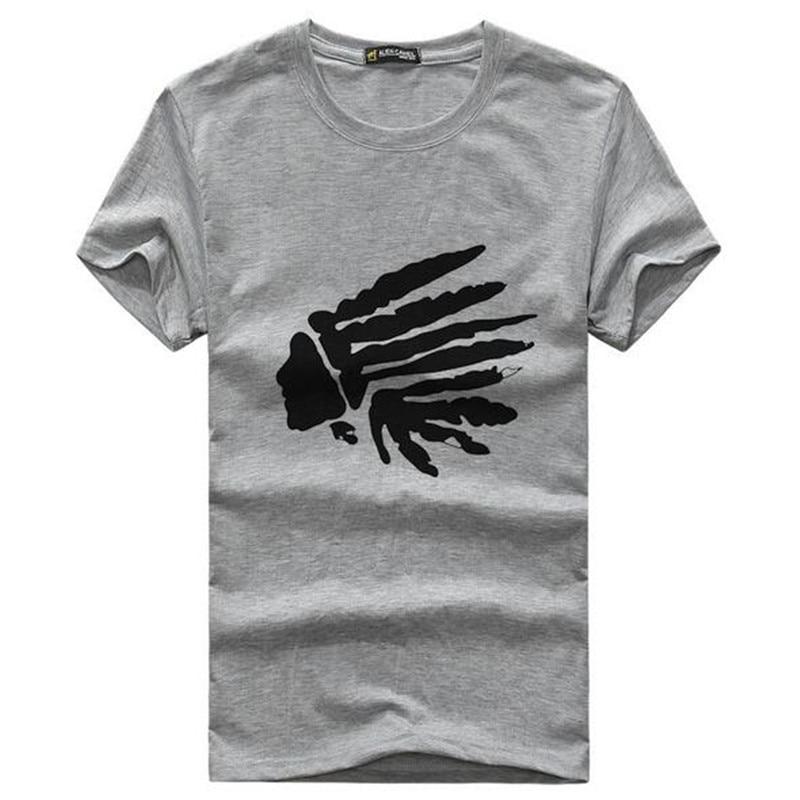 Marque design mode mens indiens imprimer t shirts 2019 nouvel été - Vêtements pour hommes - Photo 2