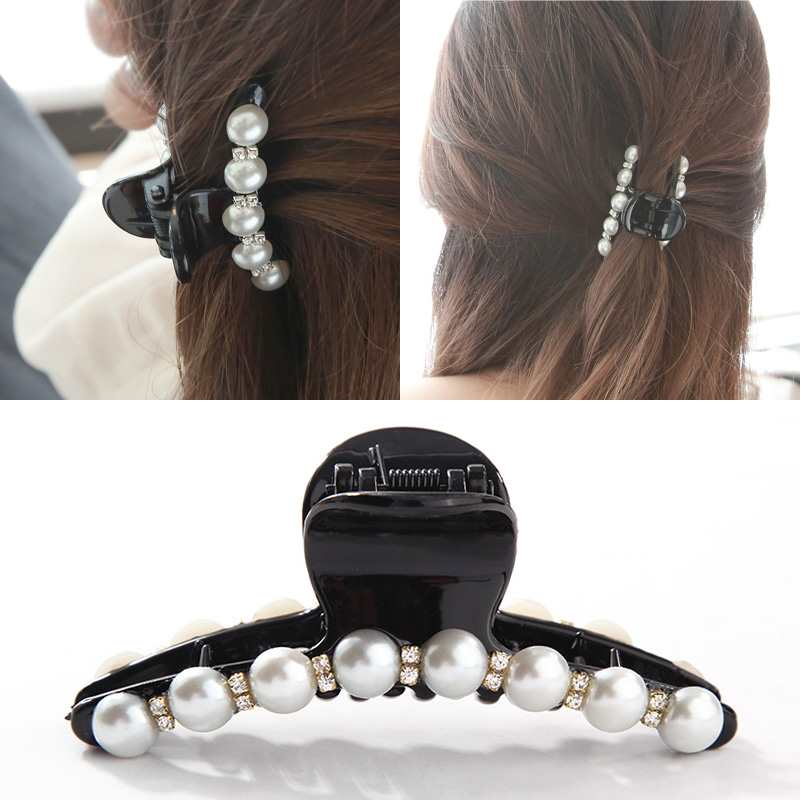 high quality rhinestone hair claw clips and rhinestone banana clips /& hair ties