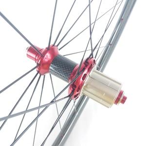 Image 4 - סופר אור 1420g 45mm נימוק מכריע U צורת כביש אופני סיבי פחמן ישר משיכה גומות זוג גלגלי Powerway R36 רכזות גומת גלגלים