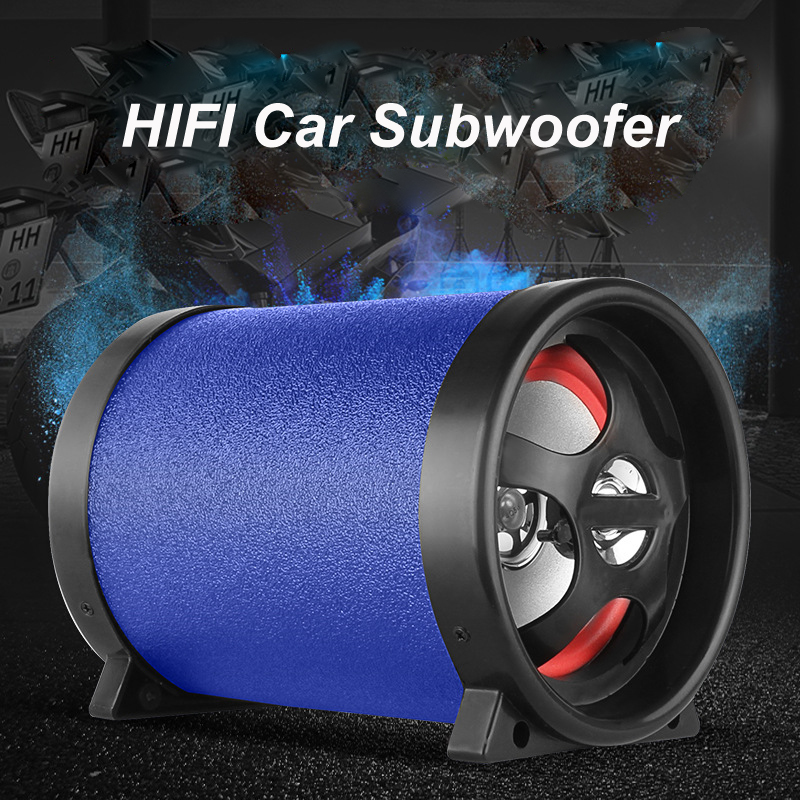 Car Motorcycle Auto Truck Subwoofer Audio 12V 24V 220V 50W Bluetooth TF USB Bass Audio Speaker Mini 5 inch Sub Woofer Speaker hk audio pr o 18 sub a
