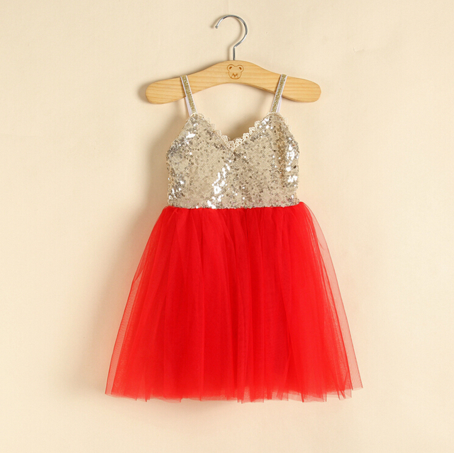 aba1eeb88 New Hot Children Baby Sequined Sling Mesh Dance Dresses, Girls Party Sweet  Clothing Cream Pink Red Blue 5 pcs/lot, Wholesale
