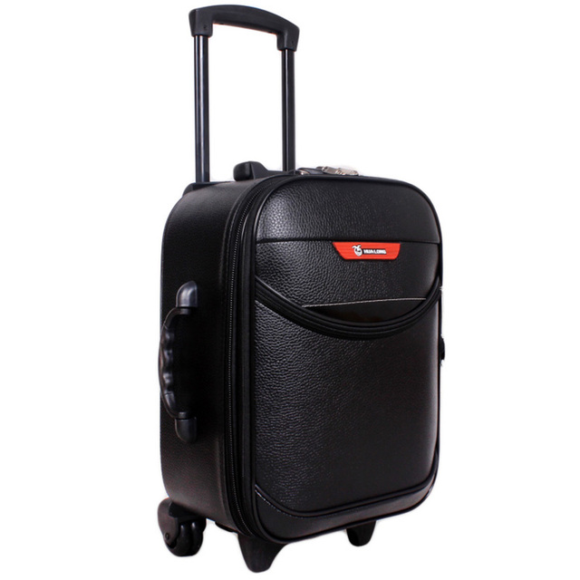 Hot Sale 16inch Men Women Trolley Travel Bags Suitcase Wheels Vintage Travel Luggage Password Lock Boarding Rolling Luggage
