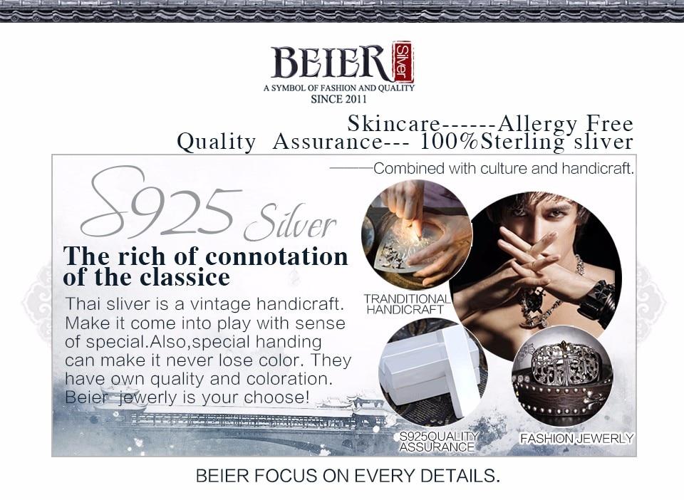 Beier nova loja dominadora pulseiras pulseiras para