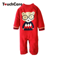 Winter Soft Cotton Thick Baby Boy Girl Rompers Newborn Long Sleeve Cute Cartoon Bear Fleece Bebes Costume Warm Toddler Jumpsuit