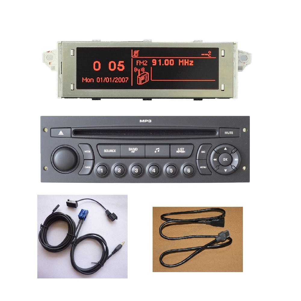 Original RD45 Car Radio USB AUX Bluetooth Suitable 207 206 307 C3 C4 C5 Car CD Player Upgrade of RD4 CD Car Audio