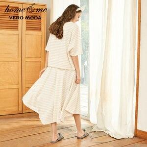 Image 3 - Vero Moda Womens 100% Cotton Loose Fit Striped Nightwear Suit Pajamas Sets