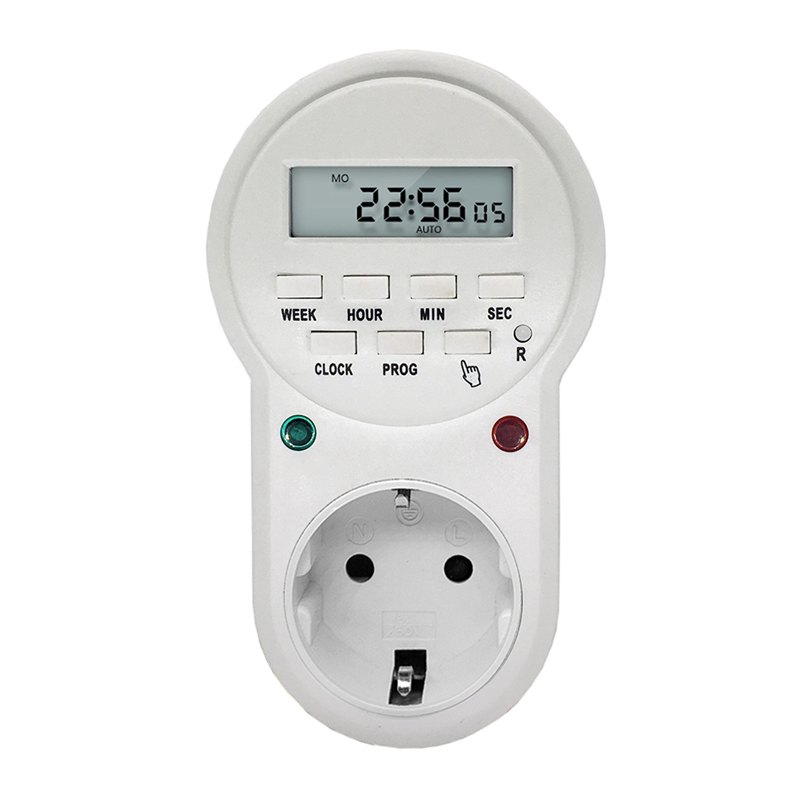 220V 50Hz 16A 3600W EU US UK Plug Timer Switch Socket Digital LCD Power Timer Energy-saving Programmable Time Switch Relay 0 01 999 second 8 terminals digital timer programmable time relay