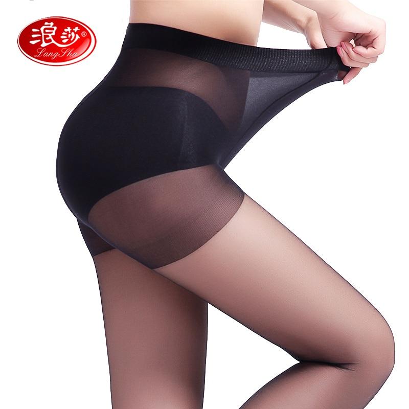 EUROPE SIZE nők 40D magas elasztikus vékony harisnya egyszínű hölgy szexi nyári harisnya langsha