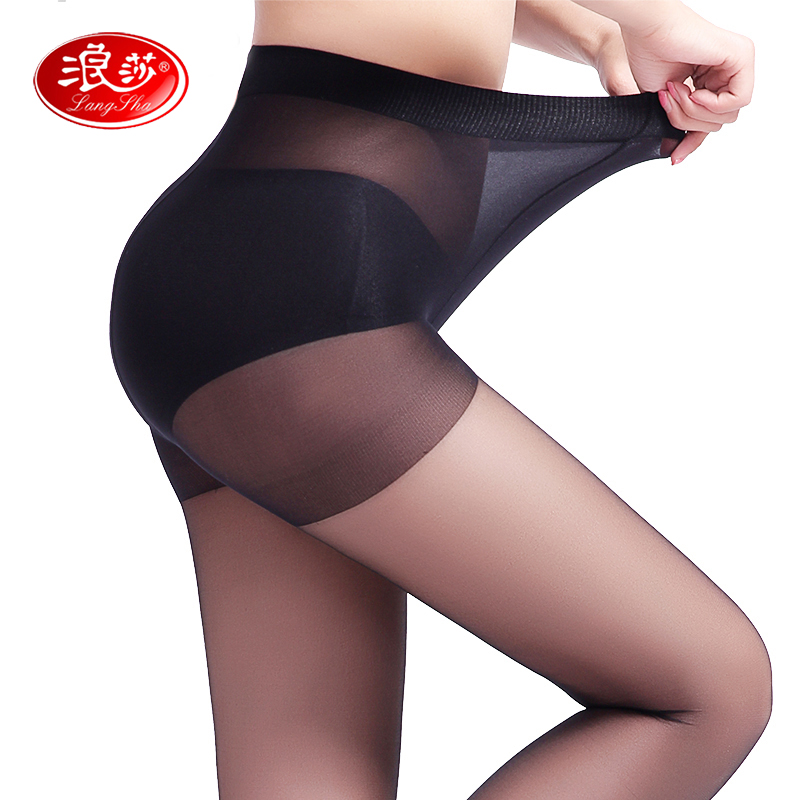 EUROPE SIZE women 40D high elastic thin tights solid color lady sexy summer pantyhose langsha(China)