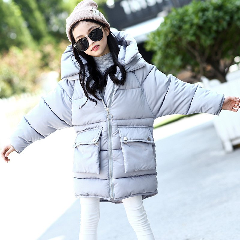 girls winter coats 2017 long big pockets hooded jackets for baby teenage girl padded clothes kids thick warm coats tops clothing fashion girl thicken snowsuit winter jackets for girls children down coats outerwear warm hooded clothes big kids clothing gh236