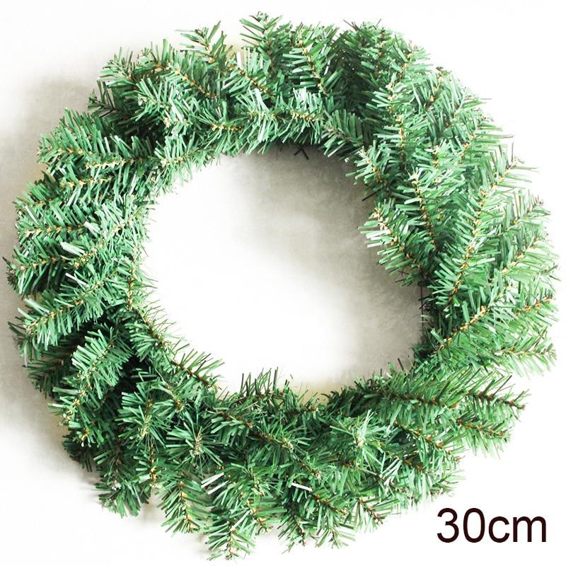 1pc Green Christmas Wreath Garland Hanging Pendant Decor Window Door Ceiling Decoration Christmas Tree Ornament Xmas Wreath