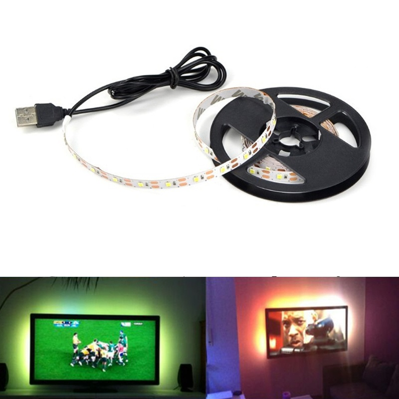 Cable Power Battery LED Strip USB DC5V 50CM 1M 2M 3M 4M 5M SMD 2835 Flexible Light Lamp Desk Decor Screen TV USB LED Strip
