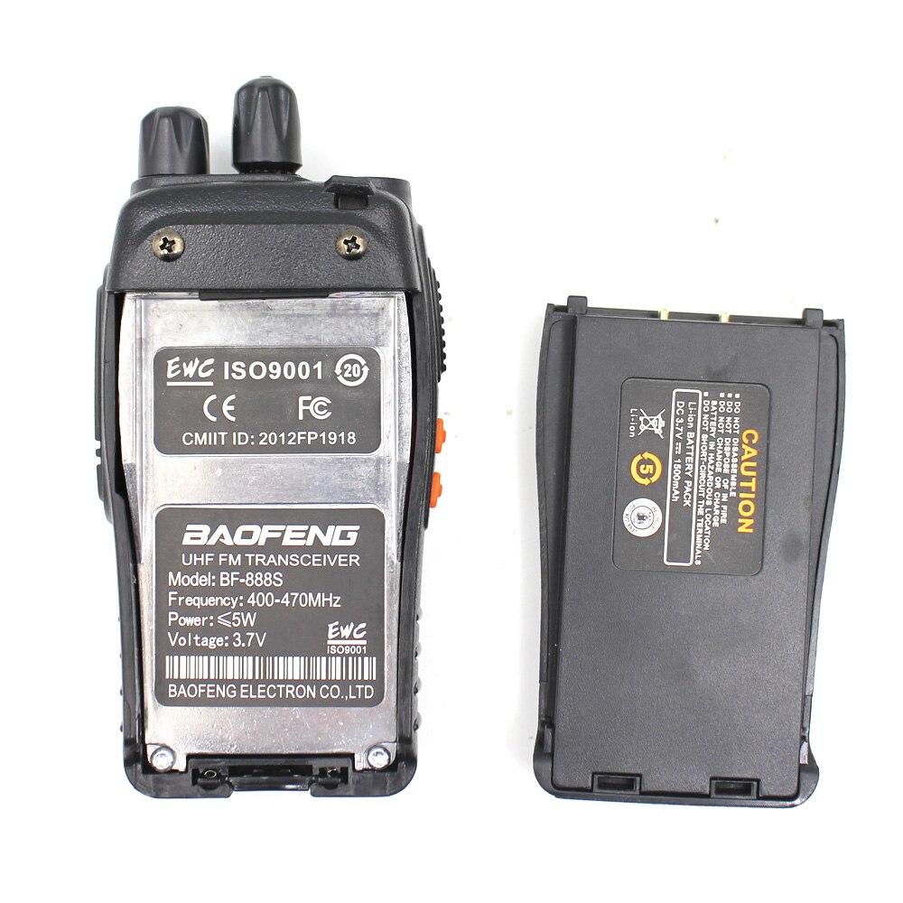 Image 5 - 10 قطعة BAOFENG BF 888S UHF400 470mhz اسلكية تخاطب BF888S جهاز الإرسال والاستقبال محطة الراديو المحمولة cb راديو Baofeng رائجة البيع 5 واط السلطةجهاز الاتصال اللاسلكي   -