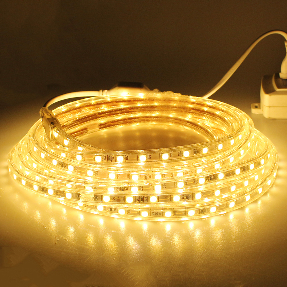 SMD5050 LED Strip Light 220V Waterproof 60LEDS 5m 10m 15m 20m Flexible  Outdoor Indoor Decora Holiday Party KTV Bar Garden Lights In Lighting  Strings From ...