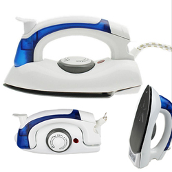 Mini plancha de vapor eléctrica portátil para ropa con 3 engranajes teflón placa base de mano Flatiron para viaje en casa