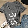 Vessos mulheres 2017 v neck top t-shirt tee top mãe de meninos harajuku tumblr freeshipping