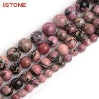 ISTONE 100 Natural Gemstone Round Beads Strand 16 Inch Jewelry Making Beads 6 8 10mm 18