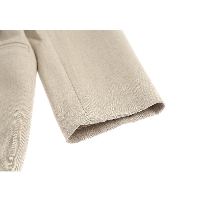 Bandage Manteau De Lâche Revers Kaki Longues Poche Veste Nouveau 2019 Ji456 Brève Printemps eam Khaki Marée À Femmes Manches Taille Deep Mode 7gAfxqw