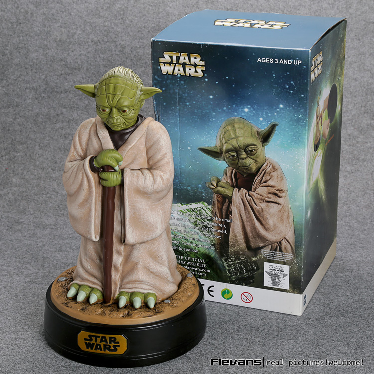 Star Wars Yoda Piggy Bank PVC Action Figure Collectible Model Toy 12 30cm SWFG094 светильник светодиодный 3dlightfx star wars yoda face 3d