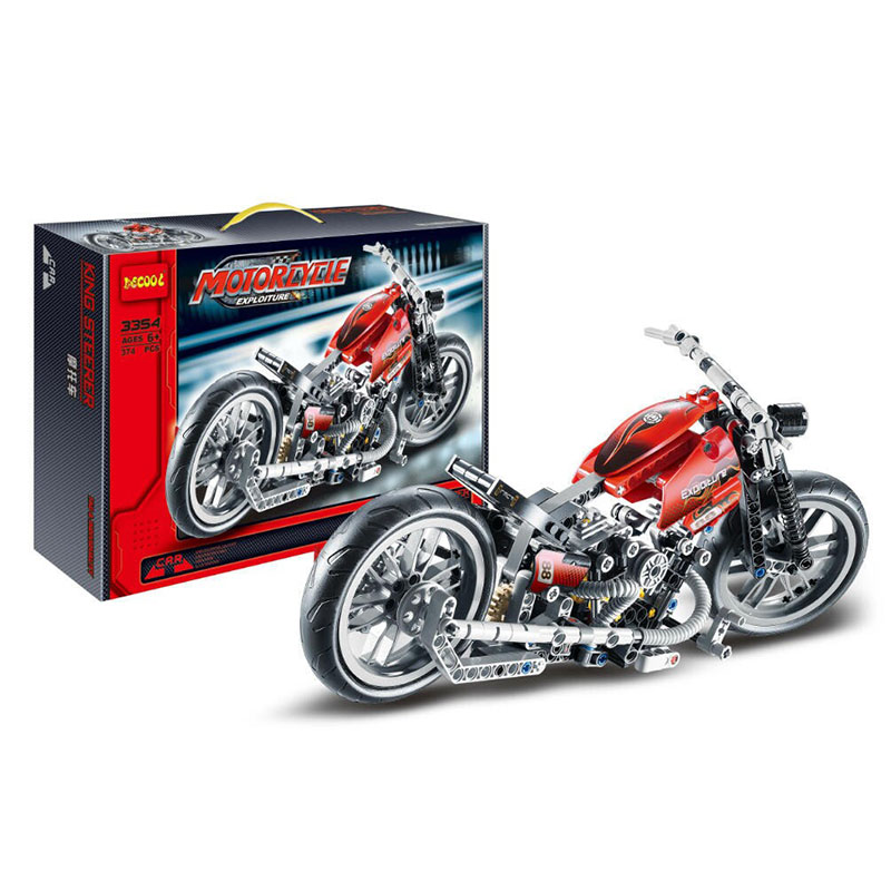 378Pcs Decool 3354 Technic Motorcycle Exploiture Model Harley Vehicle Building Block Bricks Toy For Children Gift hot 378pcs technic motorcycle exploiture model harley vehicle building bricks block set toy gift compatible with legoe
