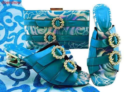 Bleu Rouge Ensemble Mis 25 Jzs1 bleu Couleur Sac blanc Strass rose Et En multi jaune Avec Doershow Femmes Noir Assorti Chaussures Italie Italiennes Décoré or xqpq0S