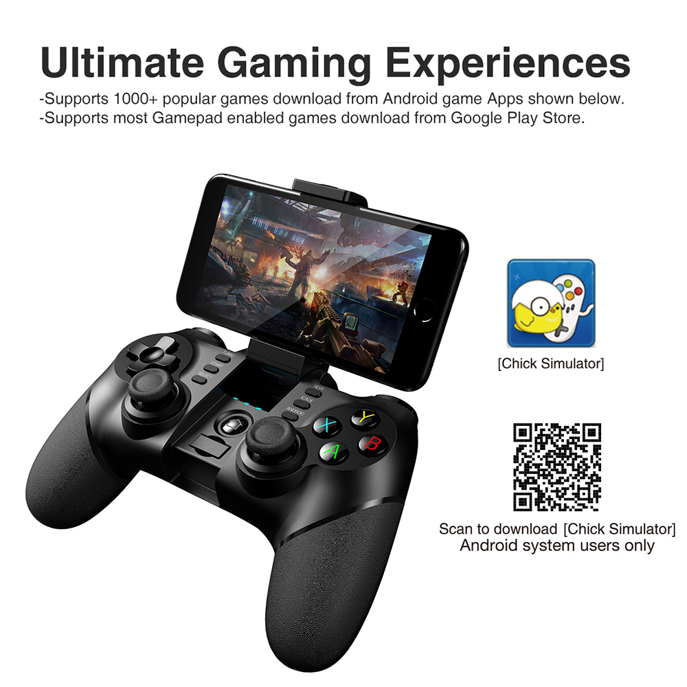 Ipega PG-9076 PG 9076 Gamepad Bluetooth Game Controller 2 4G Wireless  Receiver Joystick Android Game Console Player