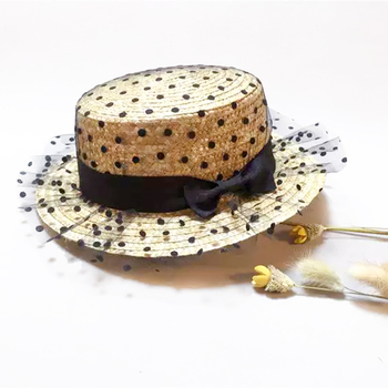 Hot black lace sun hats Panama bow hand made women Flat brim Bowknot straw cap beach big brim hat casual girl summer cap fashion parent child straw sun hat cute children sun hats women bow straw cap beach big brim panama hat casual glris summer cap