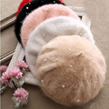 Hot venda limitada sólidos mulheres Boinas coelho pérola boina de pele Multi color pintor chapéus [ GEN-413 ]