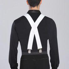 2018 Mens Clip-on Suspenders Elastic Adjustable Braces Solids 2 Colors 2015 New Arrival Dance Acessorios