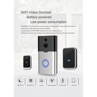 K35 Deurbel Draadloze Smart WiFi Audio Video Deurbel Afstandsbediening Telefoon Intercom IR Nachtzicht R20-in Deurbel van Veiligheid en bescherming op