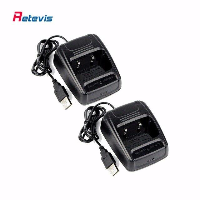 2 шт. USB Литий-Ионный Радио Аккумулятор Зарядное Устройство 100-240 В для Retevis H-777 H777 Baofeng BF-666S BF-777 BF-888S Walkie Talkie Зарядное Устройство