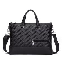 Male bags genuine leather shoulder bag Messenger Mens Genuine laptp 14 15.4 inch 2018 new
