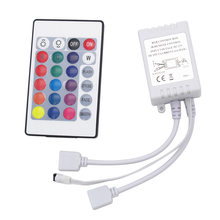 Connecteurs à double sortie 24 clés DC 12V, 2 Ports de contrôle IR, télécommande RGB, alimentation pour bande LED SMD 3528 5050 2835