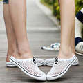 Light and comfortable couple models mesh Summer sandals slippers 2017 new men shoes casual hole shoes flat slippers large yards