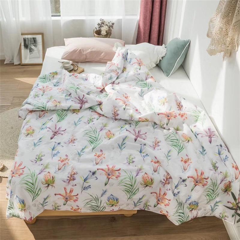 Тропический Стёганое одеяло s покрывало пальмовых листьев кровать Стёганое одеяло для девочек пуховое одеяло Стёганое одеяло ed белые летни...