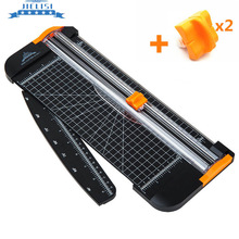 Portable A4 Paper Trimmer Cutters Guillotine with Pull-out Ruler Paper Trimmers for Photo Paper Cutting A5 A6 A7 +2 Spare Knife