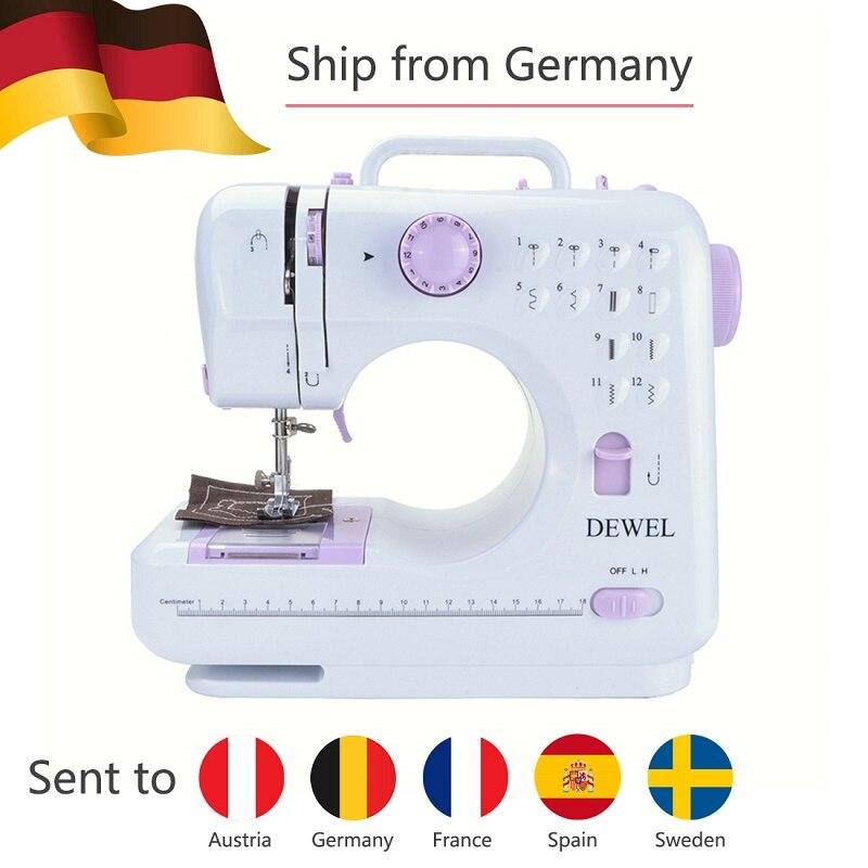 DEWEL Mini 12 puntadas máquina de coser hogar multifunción doble ...