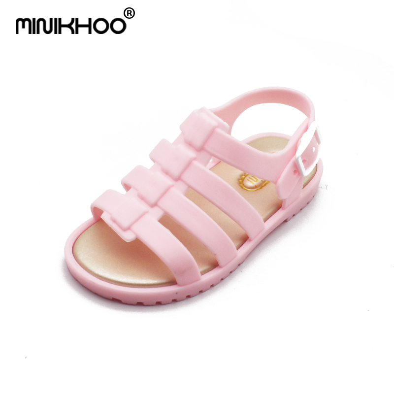 Mini Melissa Sandals Summer Kids Girls Boys Jelly Shoes Cartoon 4 Color Sandals For Boys Infant Melissa Shoes Girl Beach Sandals