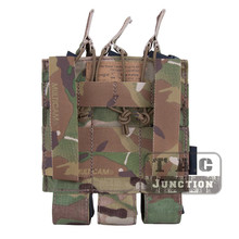 Emerson Airsoft Hunting Tactical Modular MOLLE Triple Open Top SMG Mag Pouch EmersonGear Magazine Carrier For MP5 / MP7 KRISS