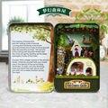 Miniaturas de Casa de boneca Diy 3D Puzzle De Madeira Casa de Bonecas em miniatura de Móveis casa de Bonecas Brinquedos Presentes de Aniversário Caixa de Teatro Trilogia