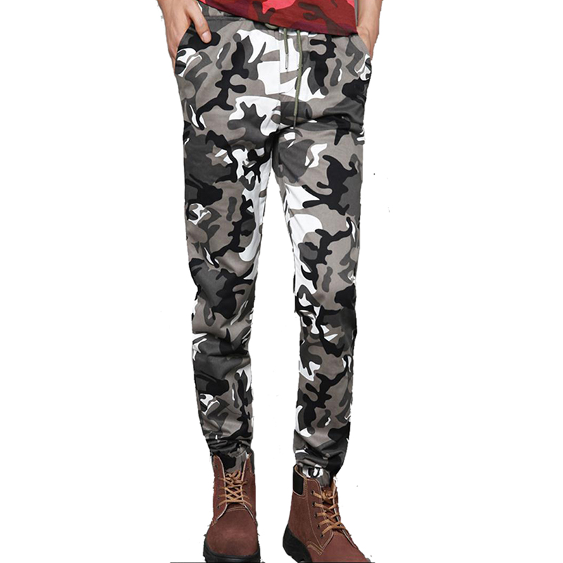 HOT Dnine autumn army fashion hanging crotch jogger pants patchwork harem pants men crotch big Camouflage pants trousers