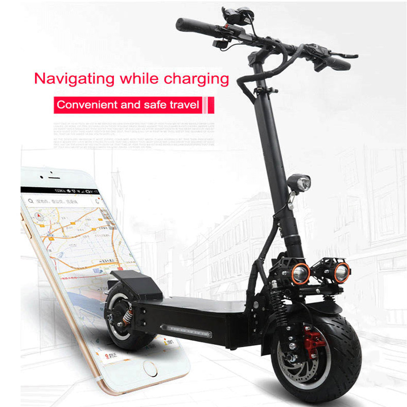 Foldable 3200W <font><b>60V</b></font> 80KM/H <font><b>Electric</b></font> <font><b>Scooter</b></font> 60KM 110KM Range Per Power 45 Degree 11Inch Tire Size <font><b>Scooter</b></font> Electrique Skateboard image