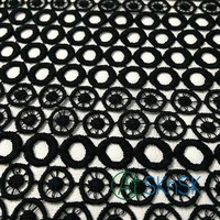 50yard/lot Embroidery Lace Dress Fabric Black Circles African Lace Fabric Wedding Dress Stage Clothing Fabrics DHL Shipping