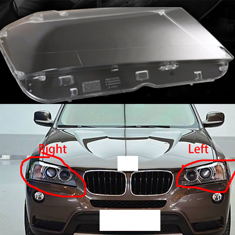1pcs lampshades lamp shell for BMW X3 F25 2011 2013 headlamps cover transparent lampshade